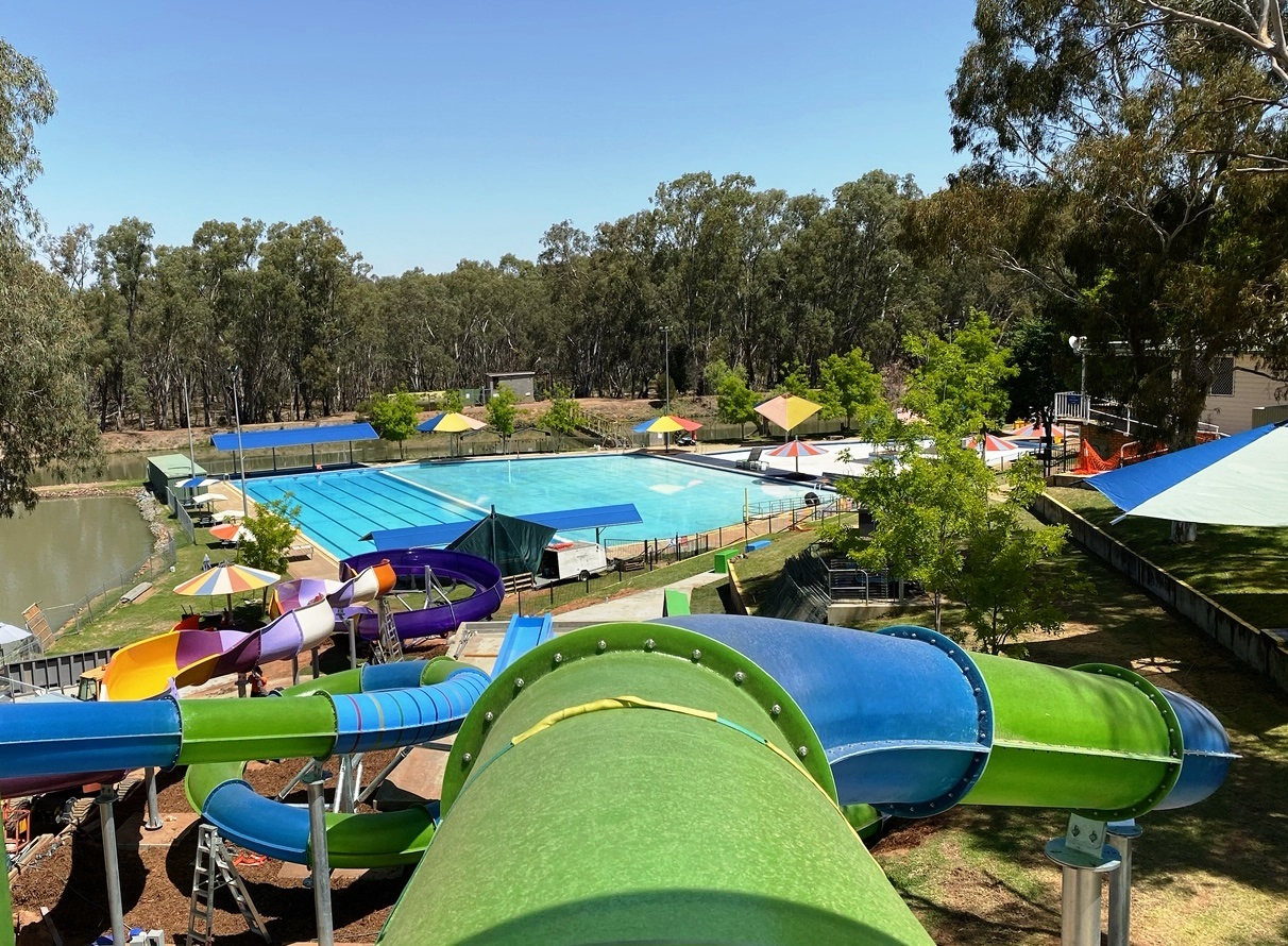 Lake Talbot Swimming Pool Slides