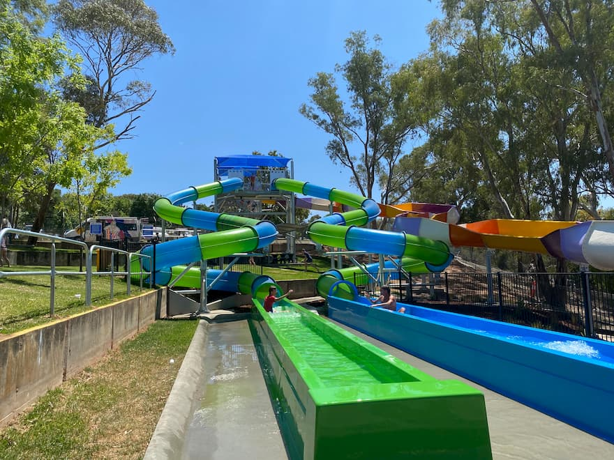 Lake Talbot Swimming Park Slides
