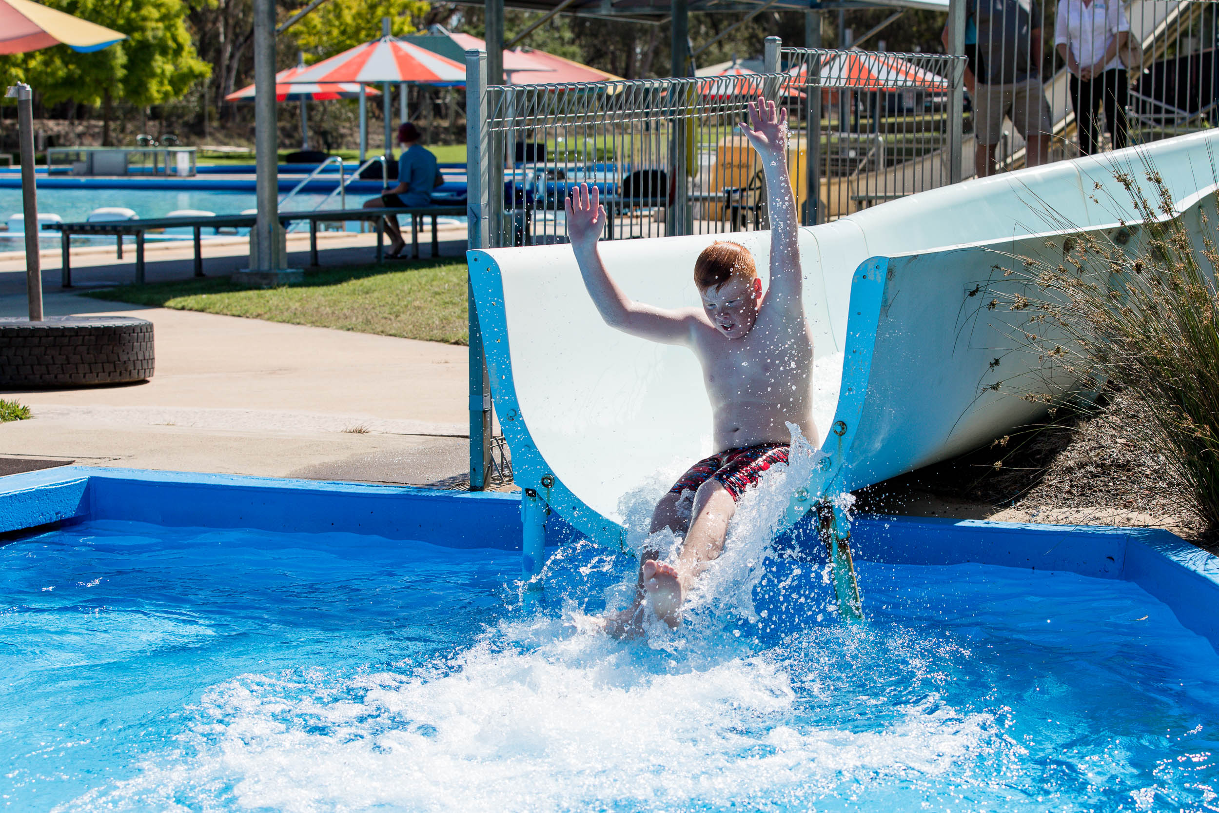 Waterslide at Lake Talbot Swimming Pool